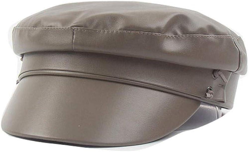 BMKWSG-MAOZi Baseball Cap Men and Women Warm Fashion hat White Retro Octagonal Cap