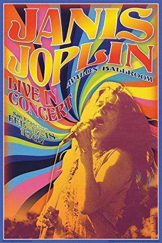 Buyartforless Janis Joplin Live in Concert Avalon Ballroom San Francisco Feb 17-18 1967 36x24 Music Art Print Poster ()