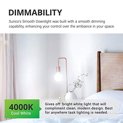 Sunco Lighting 4 Pack G25 LED Globe, 6W=40W, Dimmable, 450 LM, 4000K Cool White, E26 Base, Ideal for Bathroom Vanity or Mirror - UL & Energy Star