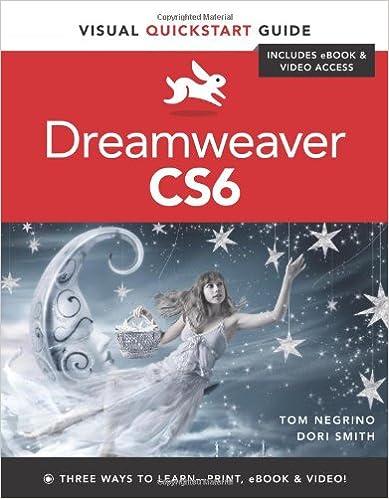 Dreamweaver cs6 visual quickstart guide tom negrino dori smith dreamweaver cs6 visual quickstart guide tom negrino dori smith 9780321822529 amazon books fandeluxe Image collections