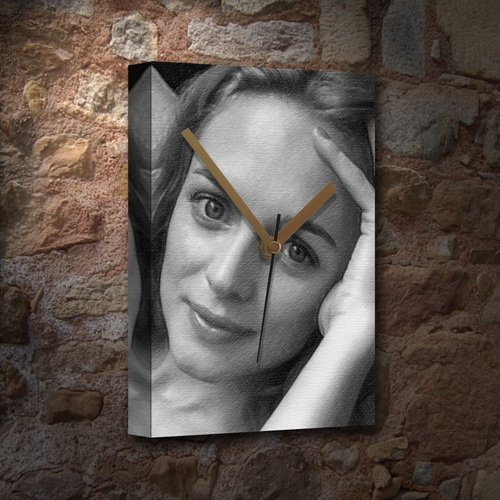 HEATHER GRAHAM - Canvas Clock (A5 - Signed by the Artist) #js001