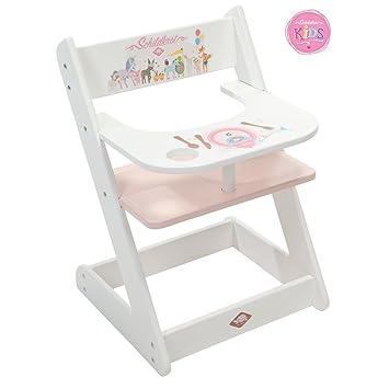 Babypuppen & Zubehör Möbel Puppen Hochstuhl Holz rosa