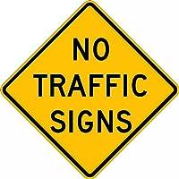 Accuform NO TRAFFIC SIGNS (FRW767DP)