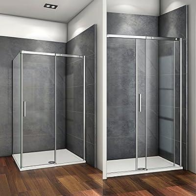 125x80x195cm Mamparas de ducha cabina de ducha 6mm vidrio templado de Aica: Amazon.es: Bricolaje y herramientas