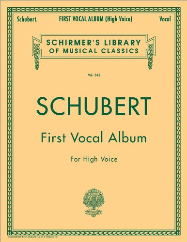 First Vocal Album for High Voice (Schirmer's Library of Musical Classics Vol. 342) (Schirmer's Library of Classics) (English and German Edition)