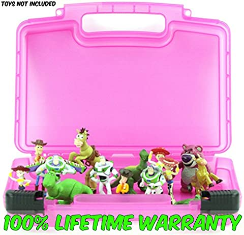 Life Made Better Toy Storage Organizer. Fits Up To 15 Mini Figures. Compatible With Disney Toy Story Mini Figures And (Full Face Character Hoodie)