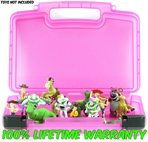 Life Made Better Toy Storage Organizer - Compatible With Toy Story Mini Figures - Durable Carrying Case- Pink (Stinky Pete Toy Story Costume)