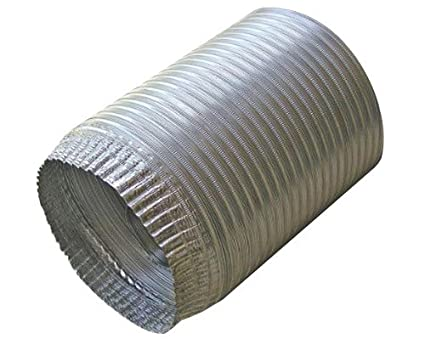 Speedi-Products EX-AFC 496 4-Inch Diameter by 96-Inch Length Aluminum Flex Pipe Crimped One End