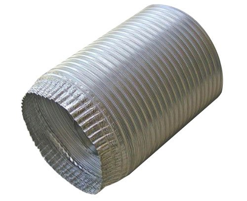 Speedi-Products EX-AFC 396 3-Inch Diameter by 96-Inch Length Aluminum Flex Pipe Crimped One End by Speedi-Products