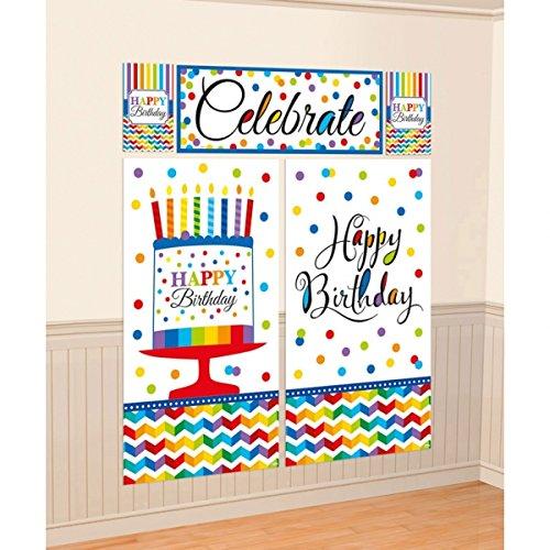 Setter Wall (Rainbow Bright Birthday Party Scene Setters Wall Decorating Kit, Vinyl, 59