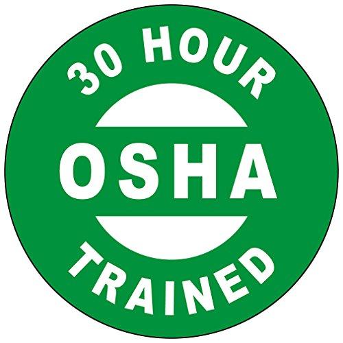 a4637c308dc02 30 Hour Osha Trained Hard Hat Labels Plain   Reflective Vinyl Reflective  Vinyl