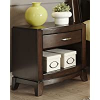 Liberty Furniture 505-BR60 Avalon Night Stand, 24 x 17 x 25, Dark Truffle