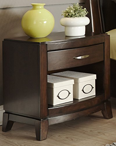 "Liberty Furniture 505-BR60 Avalon Night Stand, 24"" x 17"" x 25"", Dark Truffle"