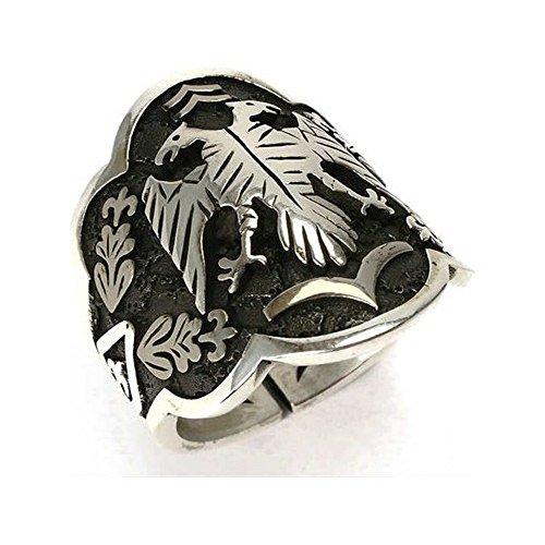argunjewellery Turkish Double Headed Dragon 925K Sterling Silver Men's Ring (Thumb)