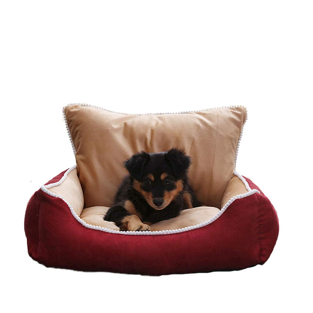 RED Xl RED Xl JM- Dog Bed, Lounge Sofa Removable Cover 100% Suede 4  Mattress Memory-Foam Premium Prestige Edition (color   RED, Size   Xl)