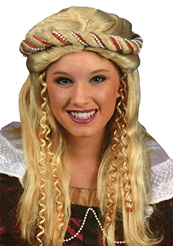Cheap Renaissance Costumes (UHC Renaissance Blonde Wig Braided Twist Rope Halloween Costume Accessory)