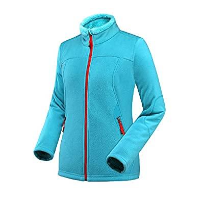 OutdoorMaster Women's Water and Stain Repellent Fleece Jacket, with Ultra Soft Plush Lining, Optional Hoodie