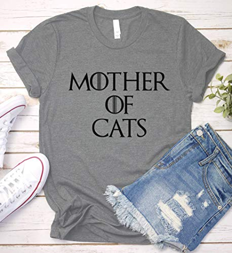 Mother of Cats Shirt, Game of Thrones Mom Gift Idea, Funny Humor Saying T-Shirt, Long Sleeve, Short Sleeve, V-Neck, Sweatshirt, Hoodie