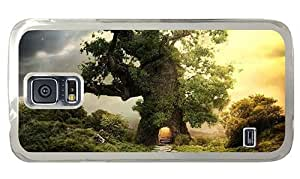 Hipster Samsung Galaxy S5 Case best fantasy house tree PC Transparent for Samsung S5 by icecream design
