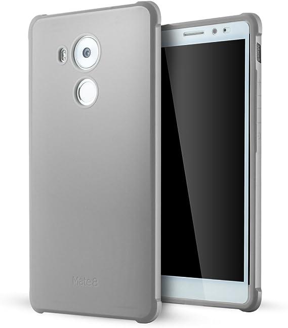 Huawei Mate 8 Coque,Lizimandu Tpu Silicone Gel Étui Housse Protection Shell Cover Case Pour huawei mate 8(Grey)