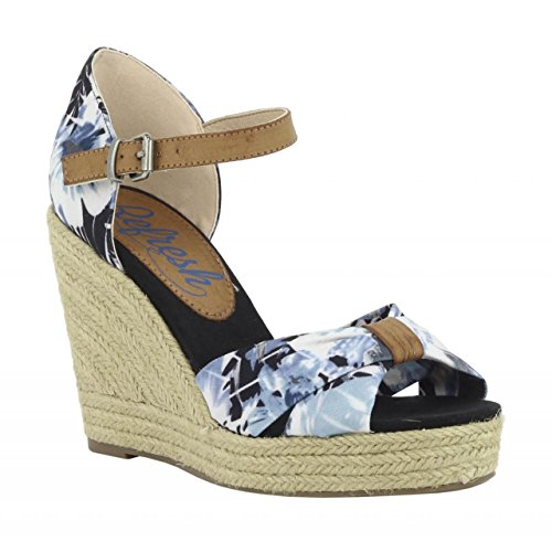 Negro Compensées 61719 Femme Tex Refresh Chaussures Pour qCROv
