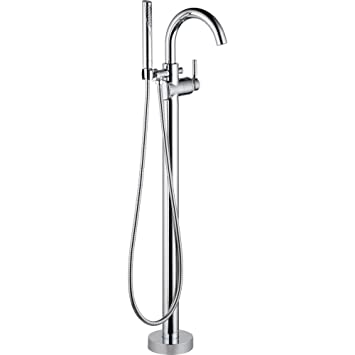 Delta 144759 Fl Trinsic Single Handle Floor Mount Roman Tub Faucet