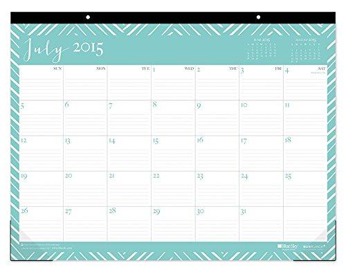 July 2015 - June 2016 Blue Sky Susy Jack Herringbone Deskpad Calender 17x13