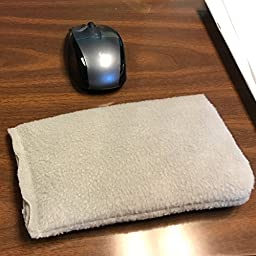 Mouse Wrist Rest Cushion with Optional Microwavable Heat Therapy for Tendinitis and Forearm Discomfort (Gray)