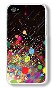 Colored Dot Custom iPhone 4S Case Back Cover, Snap-on Shell Case Polycarbonate PC Plastic Hard Case Transparent