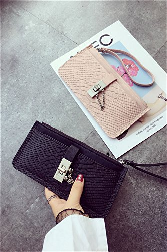 Price comparison product image Generic Ms. holding a wallet Japan and South Korea the new retro chain lock zipper minimalist long wallet crocodile pattern