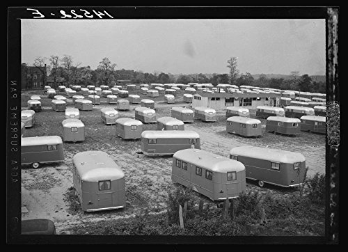 1941 Photo Trailer camp for defense workers of the Vultee Aircraft Plant. Nashville, Tennessee Location: Davidson County, Nashville, Tennessee
