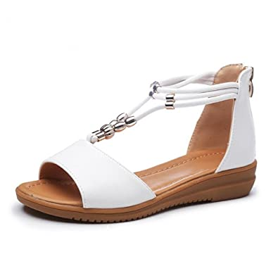 786cdd50bf86f Sandals Female Summer Flat Fashion Ladies Sandals  Amazon.co.uk  Shoes    Bags