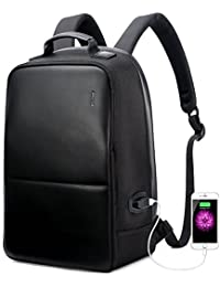Business Backpack Invisible Anti theft Backpack with USB Charging Port Travel Rucksack 15.6 inch Laptop/ MacBook Pro Water-Resistant Computer Backpack for men, Black
