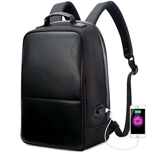 Pro Laptop Backpack (Bopai Business Backpack Invisible Anti theft Backpack with USB Charging Port Travel Rucksack 15.6 inch Laptop/ MacBook Pro Water-Resistant Computer Backpack for men, Black)