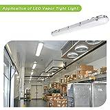Hykolity 4FT LED Vapor Tight Light, 60W 6600lm