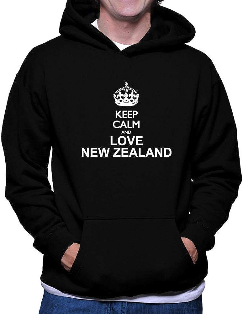 Teeburon Keep Calm and Love New Zealand Hoodie