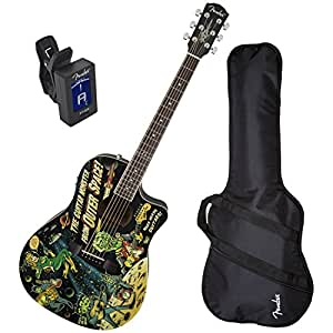 fender vince ray outer space limited edition t bucket acoustic electric guitar w gig bag and. Black Bedroom Furniture Sets. Home Design Ideas