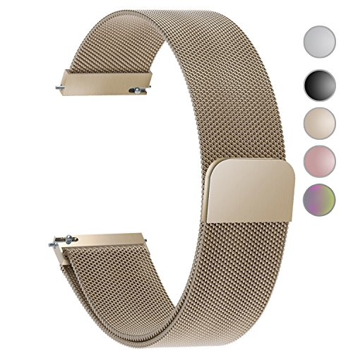 5 Colors for Quick Release Watch Strap, Fullmosa Milanese Magnetic Closure Stainless Steel Watch Band Replacement Strap for 24mm - Guess 24 Brand The