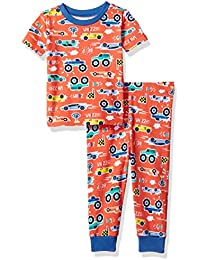 Baby Boys' Short Sleeve Top and Pants Pajama Set