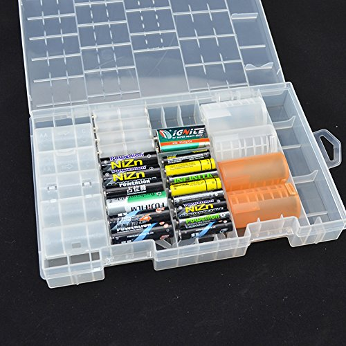new style 9840f a9e92 Battery Storage Case,Rosoz AA AAA C D 9volt Batteries Holder ...
