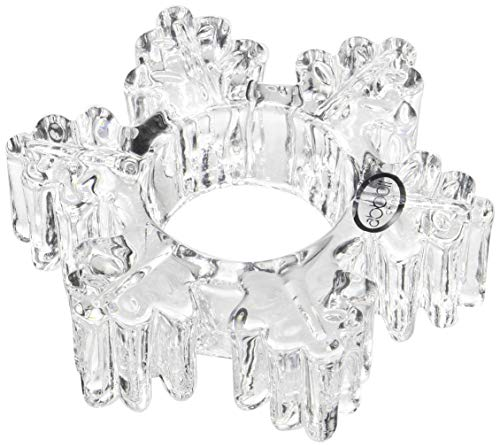 Abbott Collection Thick Snowflake Tea Lite Holder, 4.5