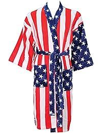 Kimono Velour Bath Robe American Flag Design Large Size beaf536db