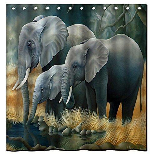 Color Deer Waterproof Polyester Shower Curtain Bath Decor Curtain 72