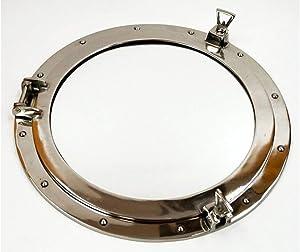 "Aluminum Chrome Finish Ships Porthole Mirror 20"" AL486110M Nautical Wall Decor"
