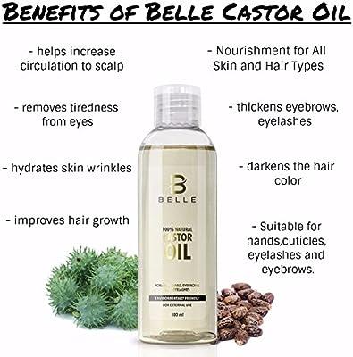 Belle® 100% natural aceite de ricino prensado en frío ...