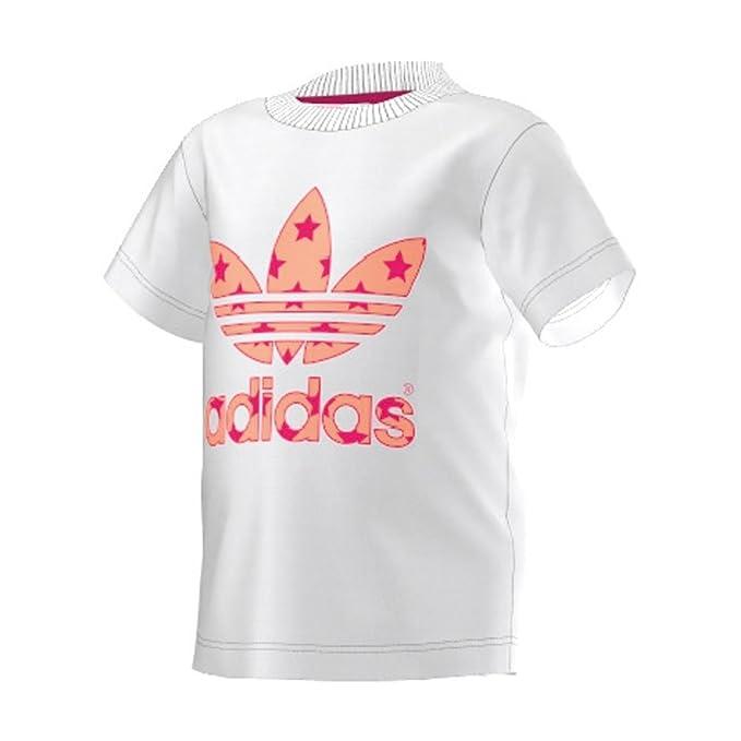 883918a8184df adidas Originals Camiseta de Manga Corta - para Niño  Amazon.es  Ropa y  accesorios
