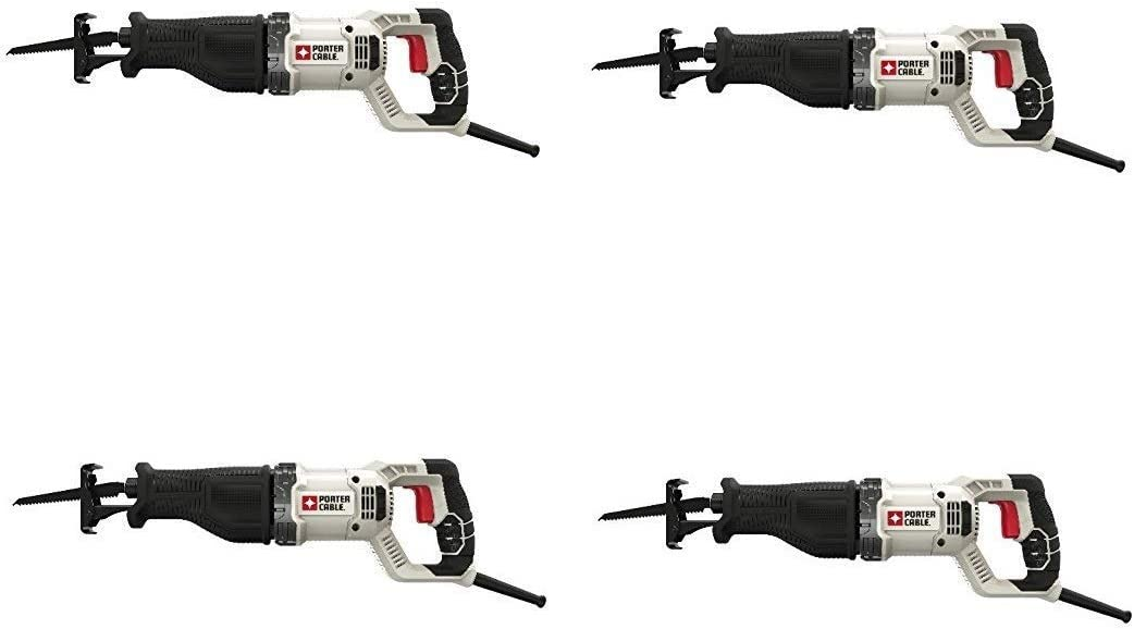 PORTER-CABLE Reciprocating Saw, Variable Speed, 7.5-Amp PCE360 Pack of 4