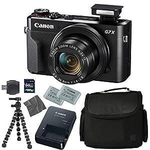 Flashandfocus.com 51zS1DrKAfL._SS300_ Canon PowerShot G7 X Mark II: Digital Camera + 64GB 4K 1200X SDXC Card + Pro Case + 2X NB-13L + Canon CB-2LH + WS-DC12…