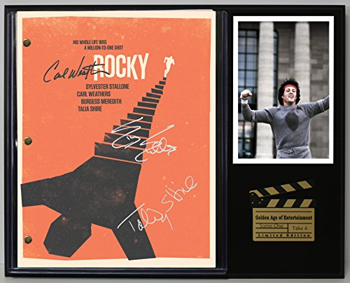 "Rocky Sylvester Stallone Limited Edition Reproduction Movie Script Cinema Display""C3"""