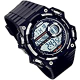 Lancardo 50M Waterproof Digital Muti-Function Sport Military Army Police Watch(Silver, 2PCS)